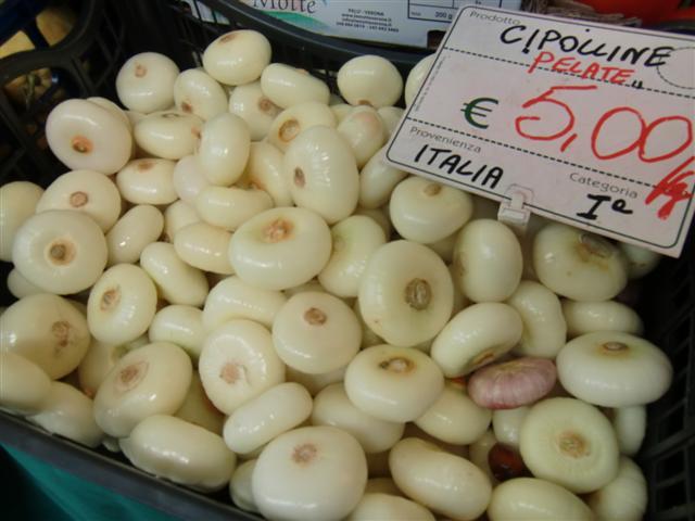 Cipolline - Wochenmarkt in Padua - Blog Topfgartenwelt