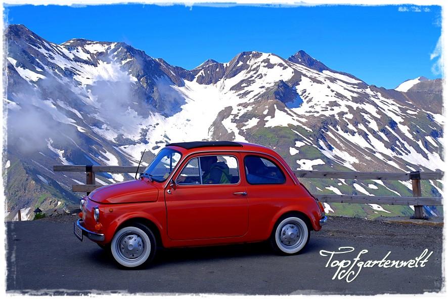 Mit dem Fiat 500 auf den Grossglockner - Oldtimerfahrt - Blog Topfgartenwelt