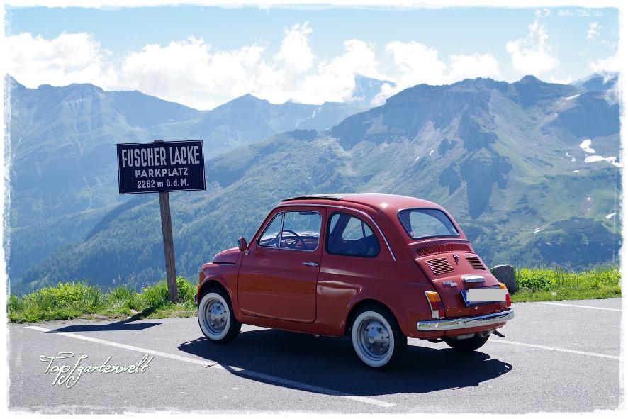 Fuscher Lacke | Großglockner Hochalpenstraße | Oldtimer | Fiat 500 - Blog Topfgartenwelt