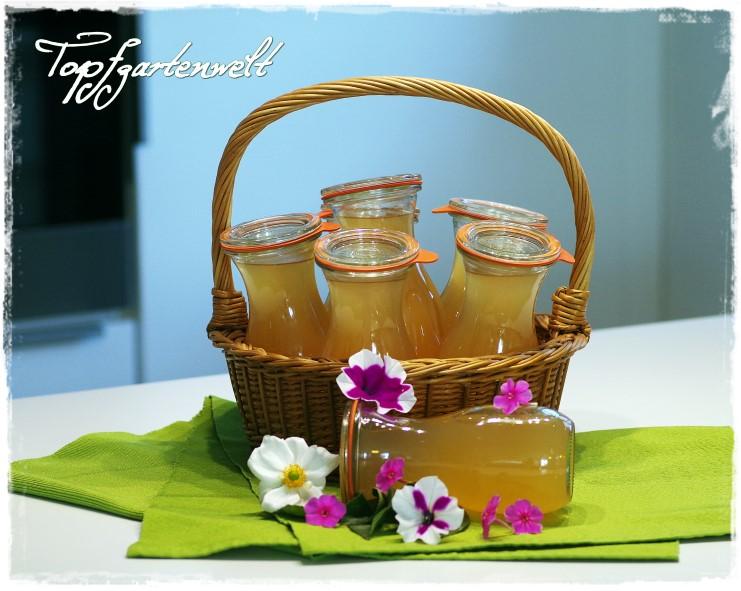 Apfelsaft im Weckglas