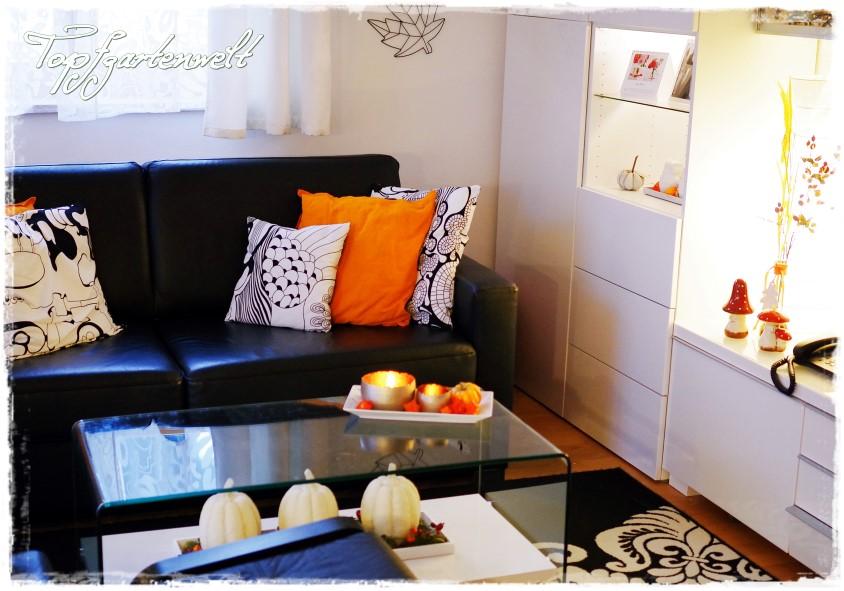 Herbstdeko im Wohnzimmer