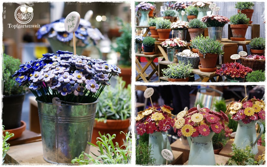 Gartenblog Topfgartenwelt Gartenmesse: Garten Salzburg 2017 Blumenstecker aus Ton