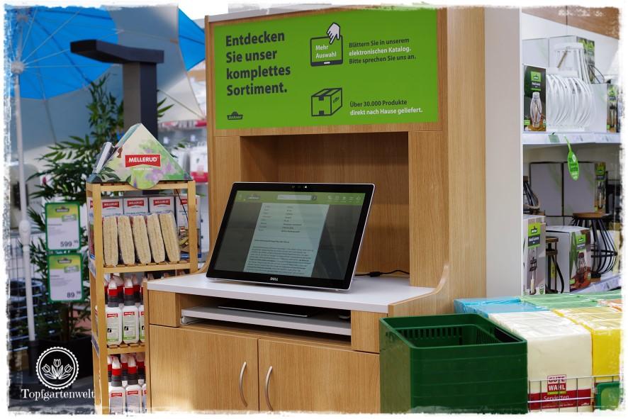 Gartenblog Topfgartenwelt Eröffnung Gartencenter Dehner Salzburg: Infopoint für das Cross Channel Konzept