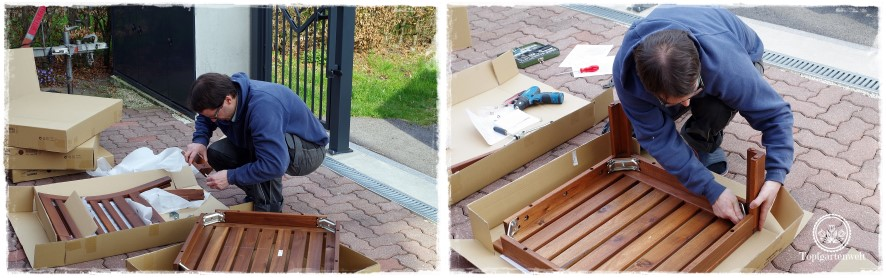 Gartenblog Topfgartenwelt Loungemöbel für den Garten - Aufbau