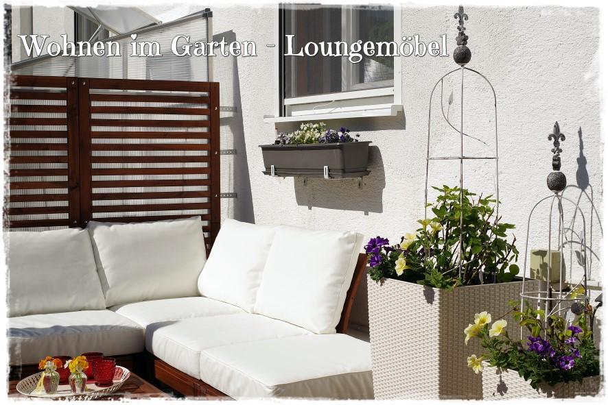 Gartenblog Topfgartenwelt Loungemöbel für den Garten - Blumen dürfen nicht fehlen