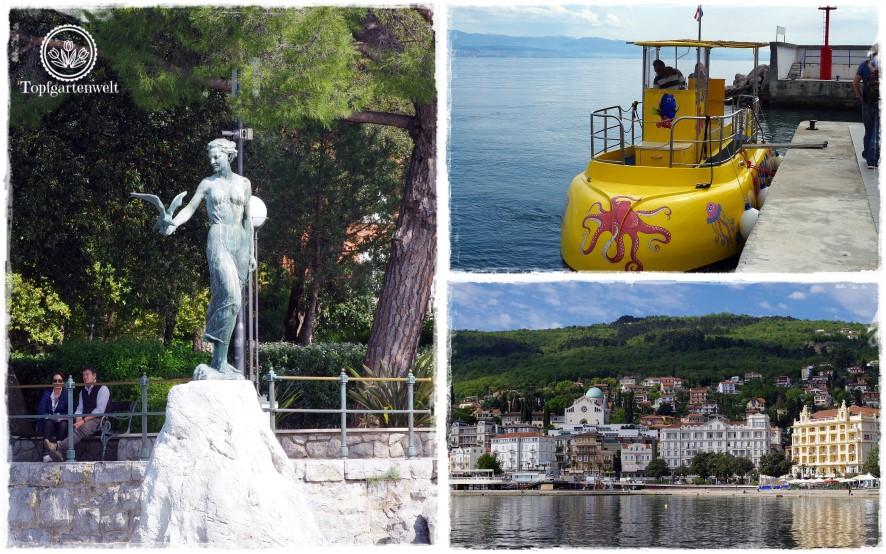 Gartenblog Topfgartenwelt Kroatien: Mädchen mit der Möwe
