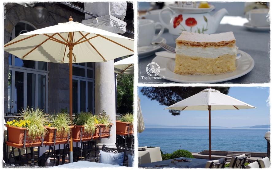 Gartenblog Topfgartenwelt Kroatien: Kaffeehaus Wagner in Opatija, Cremeschnitten