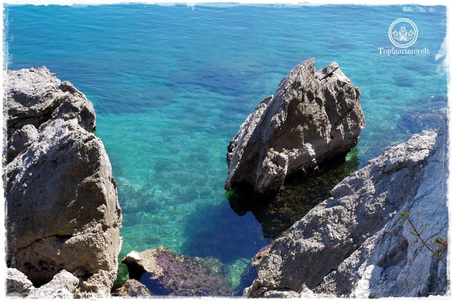 Gartenblog Topfgartenwelt Kroatien: Felsformation beim Lungo Mare