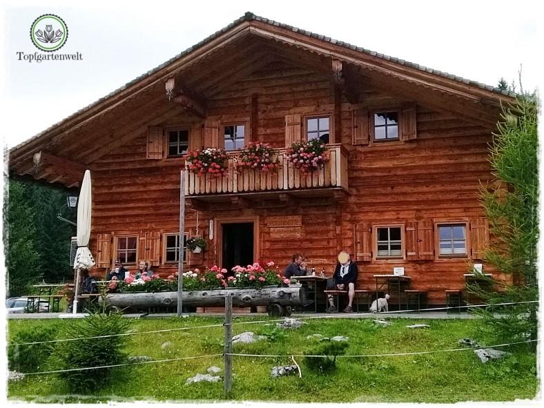 Gartenblog Topfgartenwelt Salzburg Almhütten: Rosser Hütte Postalm
