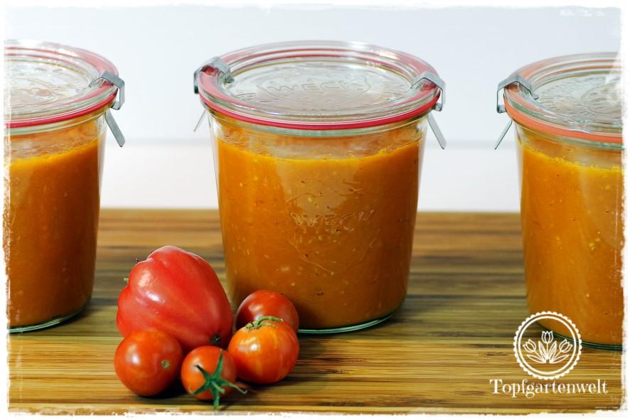 Tomatensugo nach italienischer Art einkochen - Foodblog Topfgartenwelt