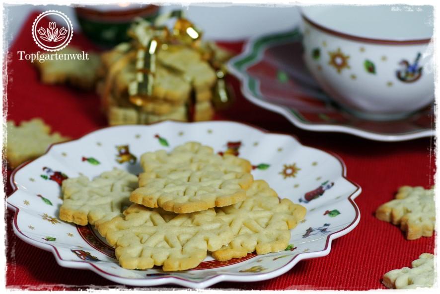 Stinknormale Mürbteigkekse für Weihnachten oder als Teegebäck!