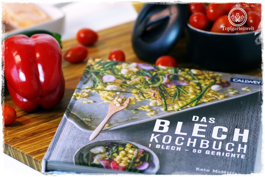 Gartenblog Topfgartenwelt Buchvorstellung Blech-Kochbuch 1 Blech 50 Rezepte: mit Rezept für Ofenlachs nach provenzialischer Art