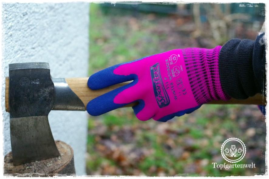 Gartenblog Topfgartenwelt erste Gartenarbeiten im Frühjahr Checkliste: Spontex Winter Worker Handschuhe