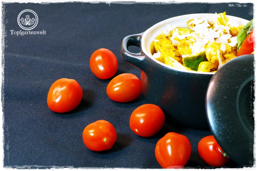 Gartenblog Topfgartenwelt Pasta-Rezept: Tomatensauce aus dem Rexglas verwenden
