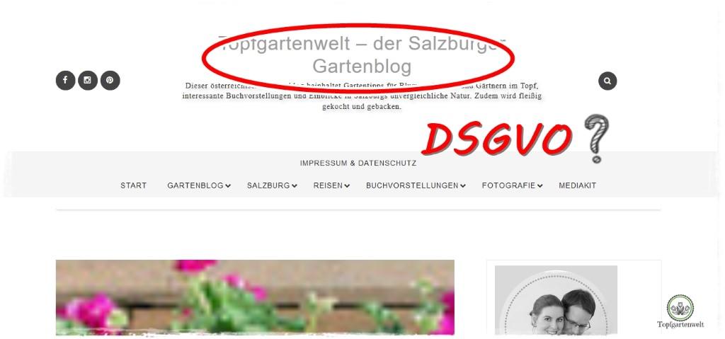 Gartenblog Topfgartenwelt Umsetzung der DSGVO auf Blogspot: viele Fragezeichen