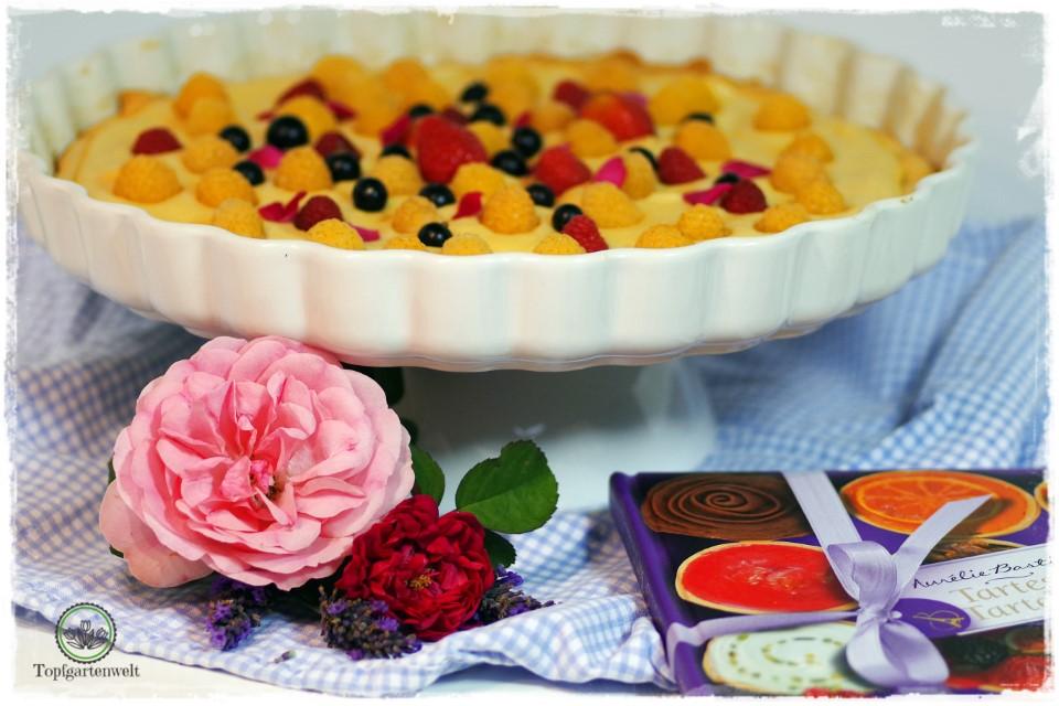 Tarte mit Rosencreme und Früchten aus Tartes und Tartelettes von Aurelie Bastian!
