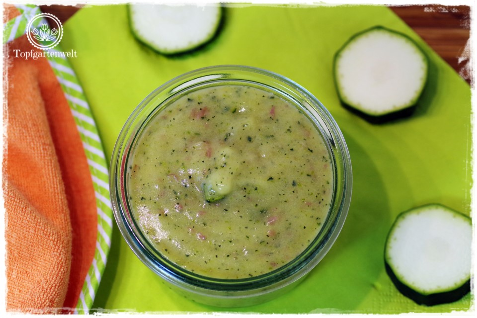 einfache Gerichte wie Zucchini-Kartoffel-Brei für Babys ab dem vierten Monat - Foodblog Topfgartenwelt