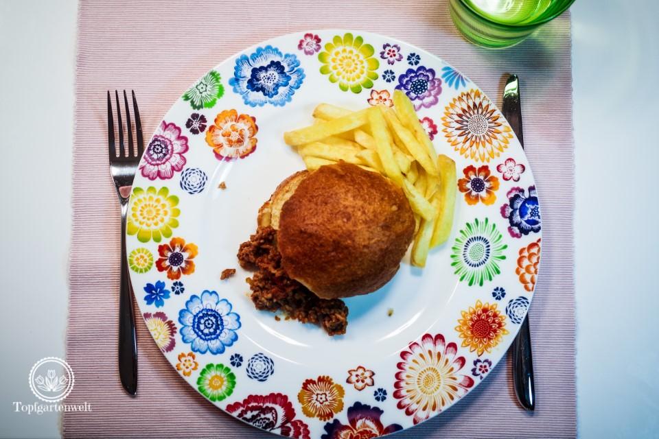 Rezept Sloppy Joes passend als Partyessen für Spieleabend Fußballabend - Foodblog Topfgartenwelt