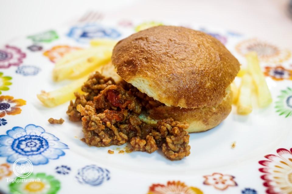 Original amerikanische Sloppy Joe Burger aus Samstagabend!