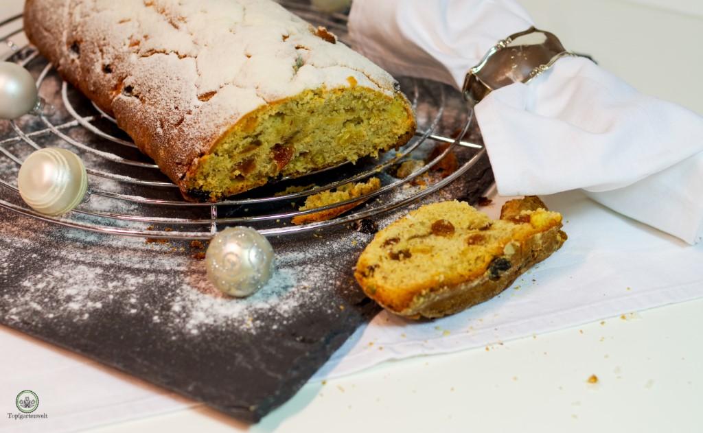 Weihnachtsstollen Christstollen Rezept einfach, saftig, klassisch - Foodblog Topfgartenwelt