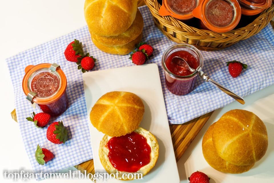 Erdbeermarmelade aus gefrorenen Früchten einkochen | im Dampfbackofen! - Topfgartenwelt