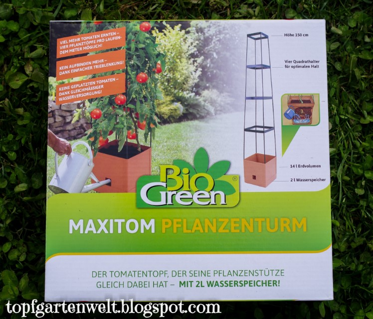 MaxiTom Tomatenturm mit Wasserspeicher und Rankhilfe | Erfahrung | Kooperation!