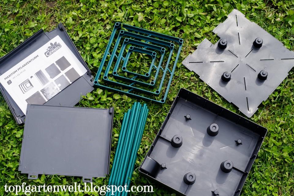 MaxiTom   Tomatenkübel mit Wasserspeicher und Rankhilfe - Gartenblog Topfgartenwelt