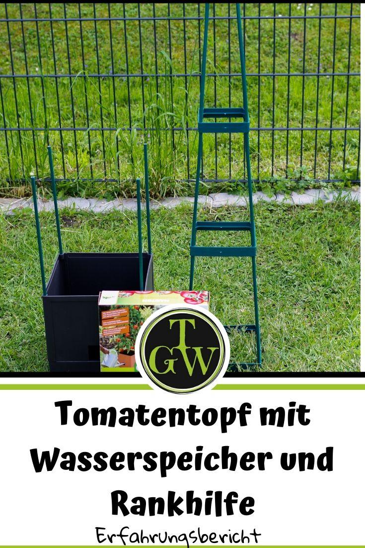 Tomatentöpfe mit Wasserspeicher und Rankhilfe   Tomaten im Topf anbauen - #tomaten #tomatentopf #topfgarten #topfgartenwelt