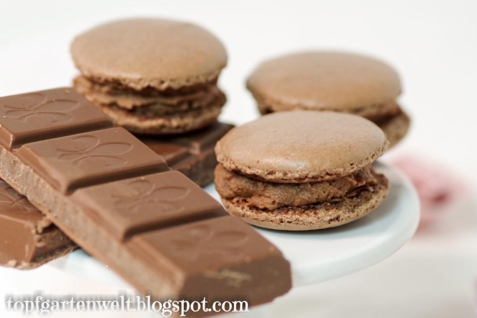 Schoko-Macarons gefüllt mit Pariser-Creme aus Macarons für Anfänger!