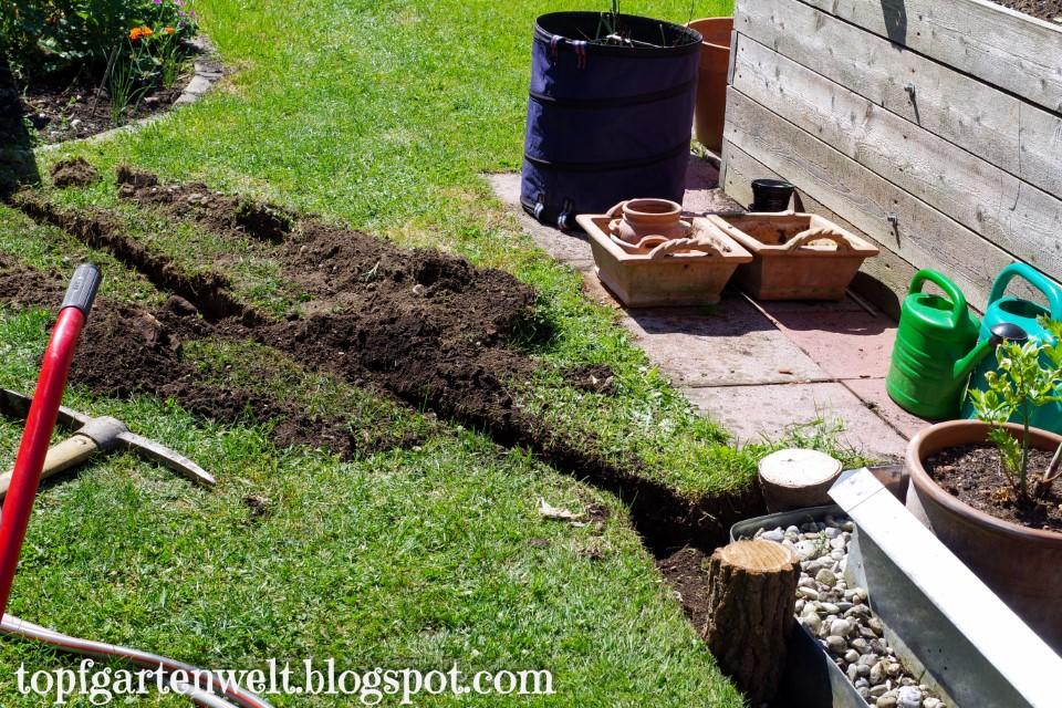 Bewässerungsanlage im Garten verlegen - Gartenblog Topfgartenwelt