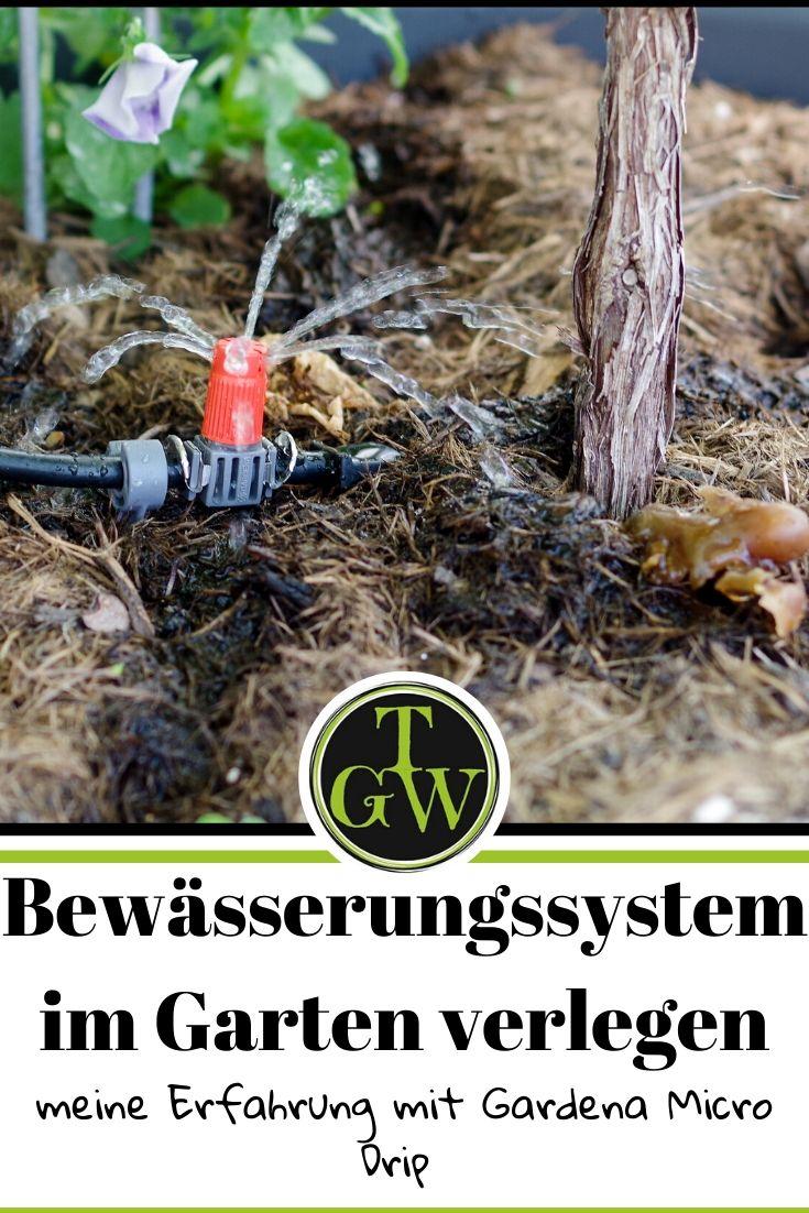 Ein automatisches Bewässerungssystem im Garten zu verlegen, löst schnell die Frage, wer im Urlaub das gießen übernimmt. Mit guter Planung hat man die Bewässerung schnell im Griff. #bewässerung #automatisch #gardena #microdripsystem #gießen #urlaub #topfgartenwelt