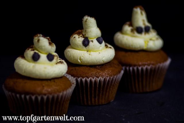 Geister-Cupcakes   Geister-Muffins für Halloween - Foodblog Topfgartenwelt