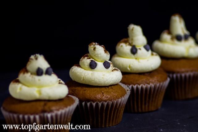 Verstaubte Geister-Cupcakes für Halloween!