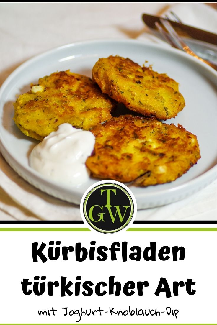 Kürbisfladen türkischer Art   vegetarisch - Foodblog Topfgartenwelt