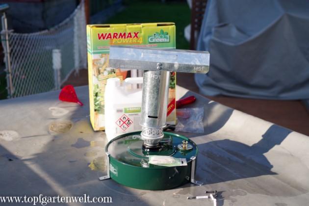 Paraffinheizung Warmax von BioGreen - Gartenblog Topfgartenwelt