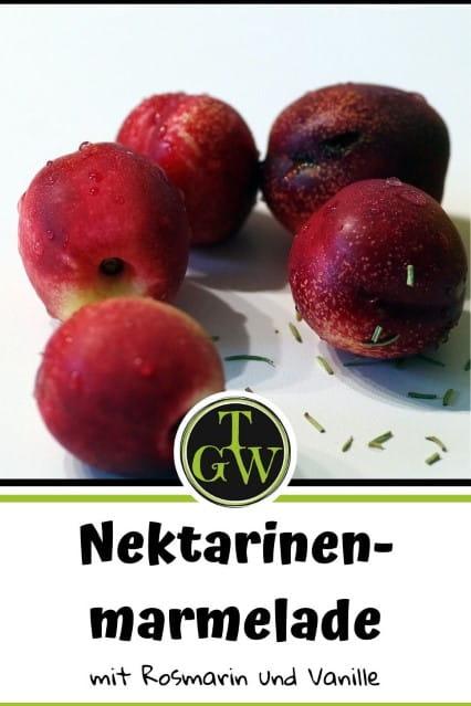 Nektarinenmarmelade einkochen - Foodblog Topfgartenwelt