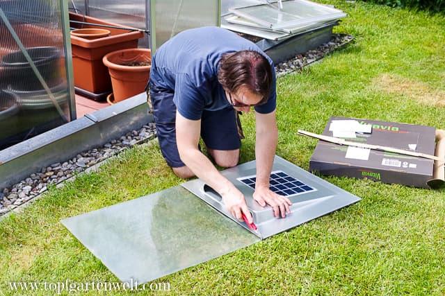 Einkürzen der Doppelstegplatte - Gartenblog Topfgartenwelt