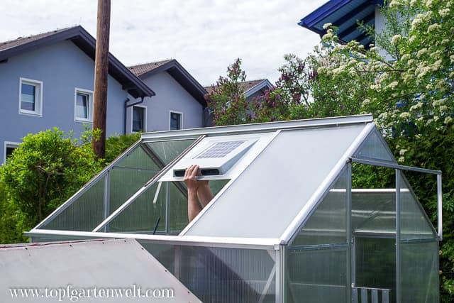 Einbau Solar-Dachventilator - Gartenblog Topfgartenwelt