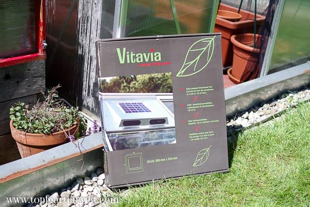 Vitavia Solar-Dachlüfter für den Einbau ins Gewächshaus - Gartenblog Topfgartenwelt