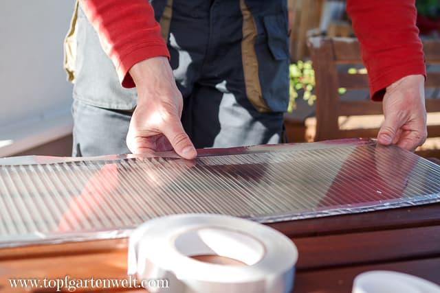 Abdichten der Doppelstegplatten - Gartenblog Topfgartenwelt