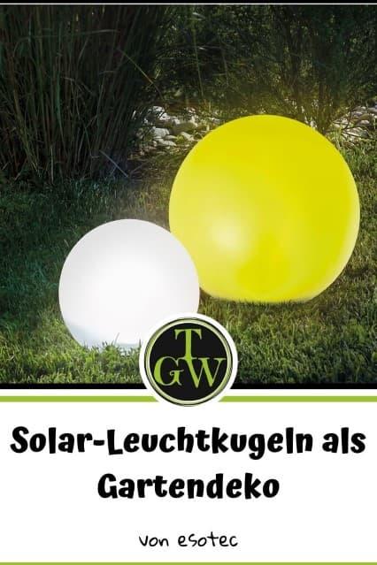 Solar-Leuchtkugeln als Gartendeko - Gartenblog Topfgartenwelt