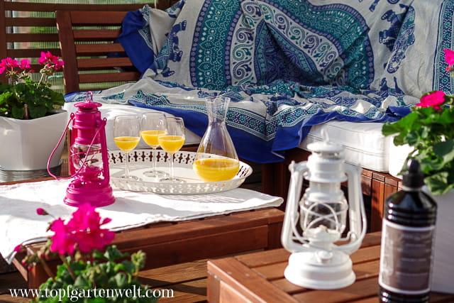Urlaubsfeeling zu Hause - Sturmlaterne Baby Special 276 - Feuerhand - Gartenblog Topfgartenwelt
