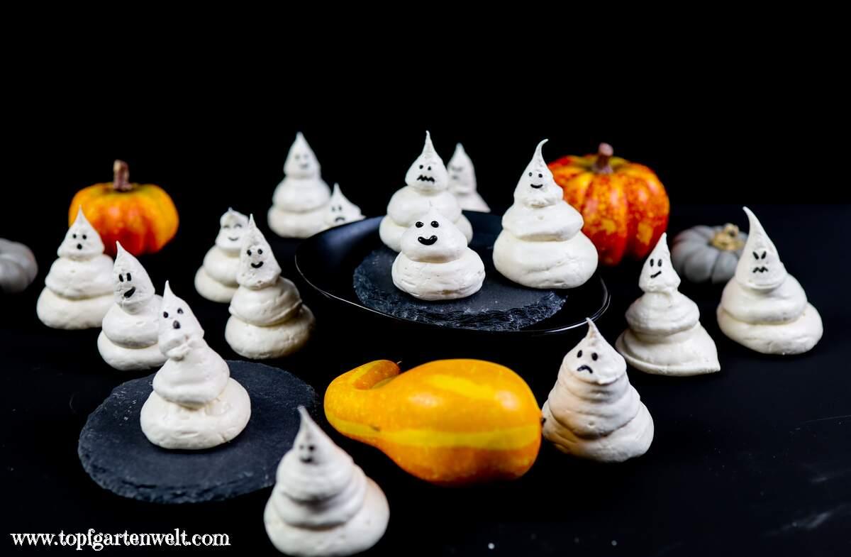 Baisergeister - einfaches Rezept für Halloween! - Topfgartenwelt